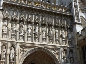 Christian martyrs above the Great West Door, Westminster Abbey